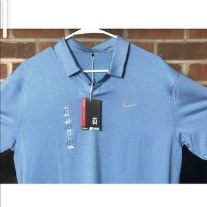 Nike Tiger Woods TW Control Stripe Golf Polo Med
